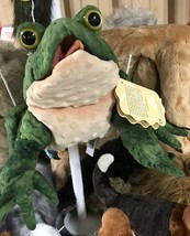 Folkmanis Frog Toad Plush Green Hand Puppet NEW - $29.99