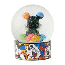"5.12"" Disney Britto Waterball Globe w Mickey Mouse Figurine image 3"