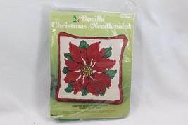 Bucilla Xmas Pillow Poinsettia Needlepoint 60338 - $41.65