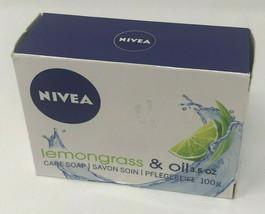 Nivea Lemongrass & Oil Care Soap Lot of 2 Bars 3.5oz Each Made in Germany 100g - $10.77