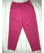 Womens Scrub Pants Sz 18 Orbit Sport Hot Pink Pull-on Medical Uniform  - $15.34