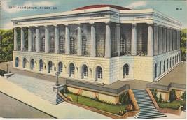 1943 City Auditorium Macon Georgia GA Postcard US Linen Colourpicture - $3.34