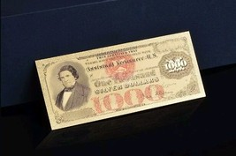 "<NEW>1878 ""GOLD""$1,000 SILVER DOLLAR CERTIFICATE Rep.*Banknote W/COA~STUNN - $11.19"