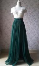 Dark Green Split Maxi Skirt Dark Green Bridesmaid Tutu Skirt with Split (US0-30) image 1