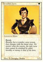 Magic: The Gathering 3rd Edition - Benalish Hero - $0.25