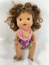 Baby Alive Talking Make Me Better Doll Brunette Spanish English Cheeks Light Up - $24.74