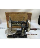 Antique National S M Stitchwell Childs Sewing Machine original wood box ... - $148.50