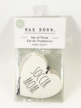 Rae Dunn Soccer Mom Set of 3 Car Air Fresheners Herbal Remedy Scent - $12.00