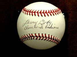 LARRY DOBY CLEVELAND INDIANS HOF 1ST BLACK IN A.L. SIGNED AUTO BASEBALL ... - $247.49