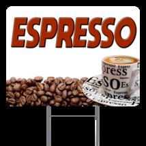 "Espresso  24"" x 18"" Double Sided Road Yard Sign: Heavy Duty Stake - $35.00"