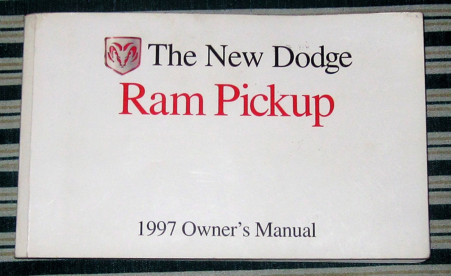 1997 dodge ram pickup owner s manual  1