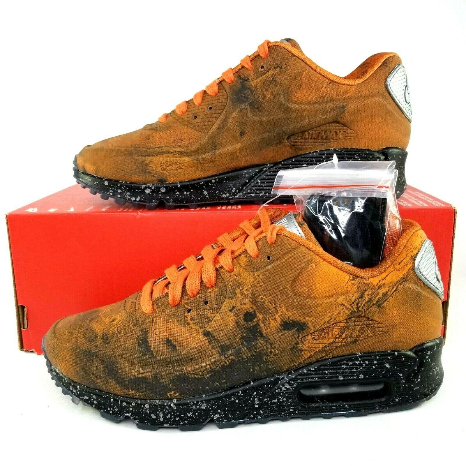 Nike Air Max 90 QS Mars Landing Shoes Mens Size 6 3M Reflective Orange Women 7.5