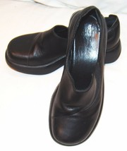 Dansko Womens Black Slip On Shoes 37 6.5 7 Clogs Mules Nursing Uniform - $42.29