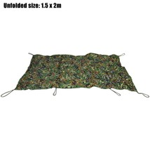 1.5M x 2M Woodland Camouflage Net Military Car Cover Hunting Camping Ten... - $23.99