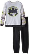 DC Comics Little Boys' Batman 2 Piece Pajamas (10-12|Black Camo) - $18.21