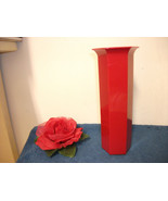 RED PLASTIC VASES 2 DOZEN NEW FAVORS FLORAL DISPLAY FLORIST - $19.99