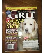 Grit Magazine Jan/Feb 2009 Early Gardening, Guard Animals, Knife Sharpen... - $4.00
