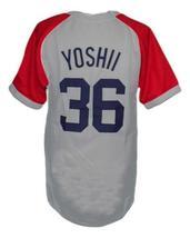 Masato Yoshi #36 Kintetsu Buffaloes Japan Baseball Jersey Grey Any Size image 2