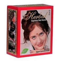 Herbul Hair Dye for Brilliant Shine Supreme RED Henna 100% PURE Natural ... - $6.77