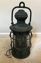 Vintage cast-iron electric wall lantern - $179.99