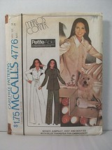 Vtg McCall's Pattern Marlo's Corner 4776 Jumpsuit Vest Booties + Transfe... - $11.61