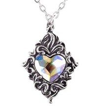 Ornate Beautiful Prismatic Crystal Romantic Heart Pendant P711 Alchemy Gothic - $24.95