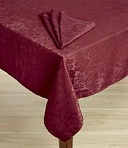 "Ralph Lauren ""Millbury"" Tablecloth Cotton Oblong 60 X 144 Cranberry Floral New - $44.65"