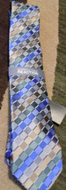 Kenneth Cole Reaction 100% Mens Blue Silver Neck Tie New - $18.51
