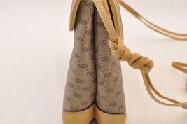 GUCCI GG Canvas Shoulder Bag Brown PVC Leather Auth sa1823 **Powder image 5