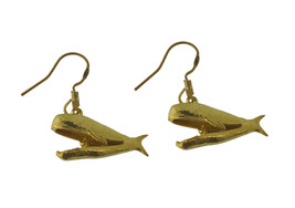 WOW New Yellow 24K Gold plated Jonah and the Whale charm Earrings Jonas ... - $30.53