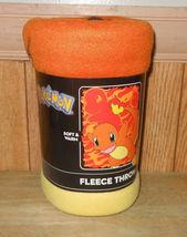 """New Pokemon Charmander Fleece Throw Blanket 40"""" x 50""""  - $19.33"""