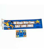 Bumper Sticker, Magnet Olympic Winter Games 2002 XlX Salt Lake City - $6.89