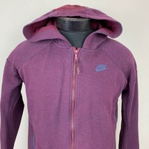 Nike Hoodie Sweatshirt Swoosh Tech Fleece Men's Small Maroon Athletic Jo... - $39.99
