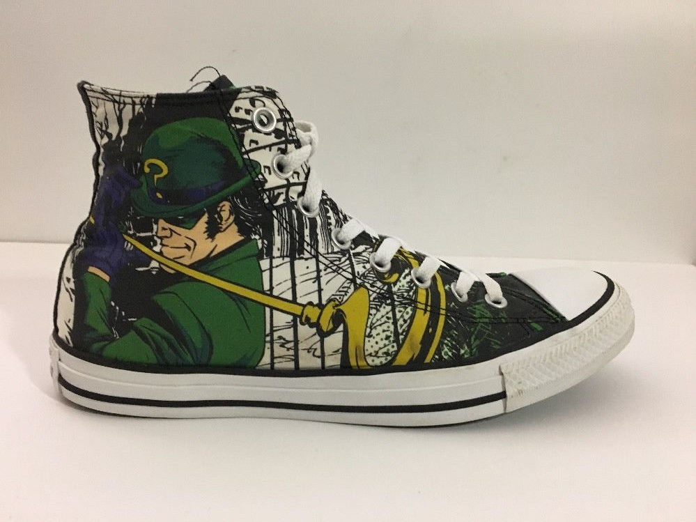 e4ba6593b93f Converse The Riddler High Top Tennis Shoes Men s sz 9 DC Comics batman
