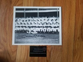 Mickey Mantle  8x10 signed 1955 Yankees Team picture World Champions COA - $99.00