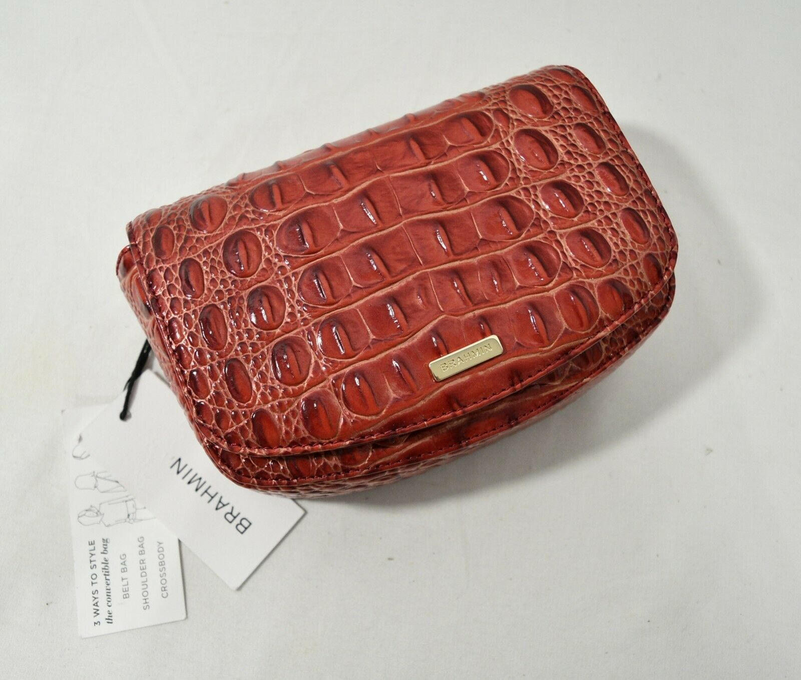 Primary image for NWT Brahmin Leather Lil Belt Bag/Shoulder Bag / Crossbody Bag Lava Melbourne