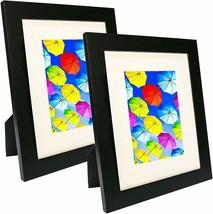 8x10 Picture Frame Collage - Set of 2 Black Wood Frames - Photo Frame FR... - $24.70