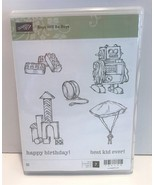 Stampin Up BOYS WILL BE BOYS Kids Toys Legos Robot Cling Mount Rubber Stamps Lot - $19.79