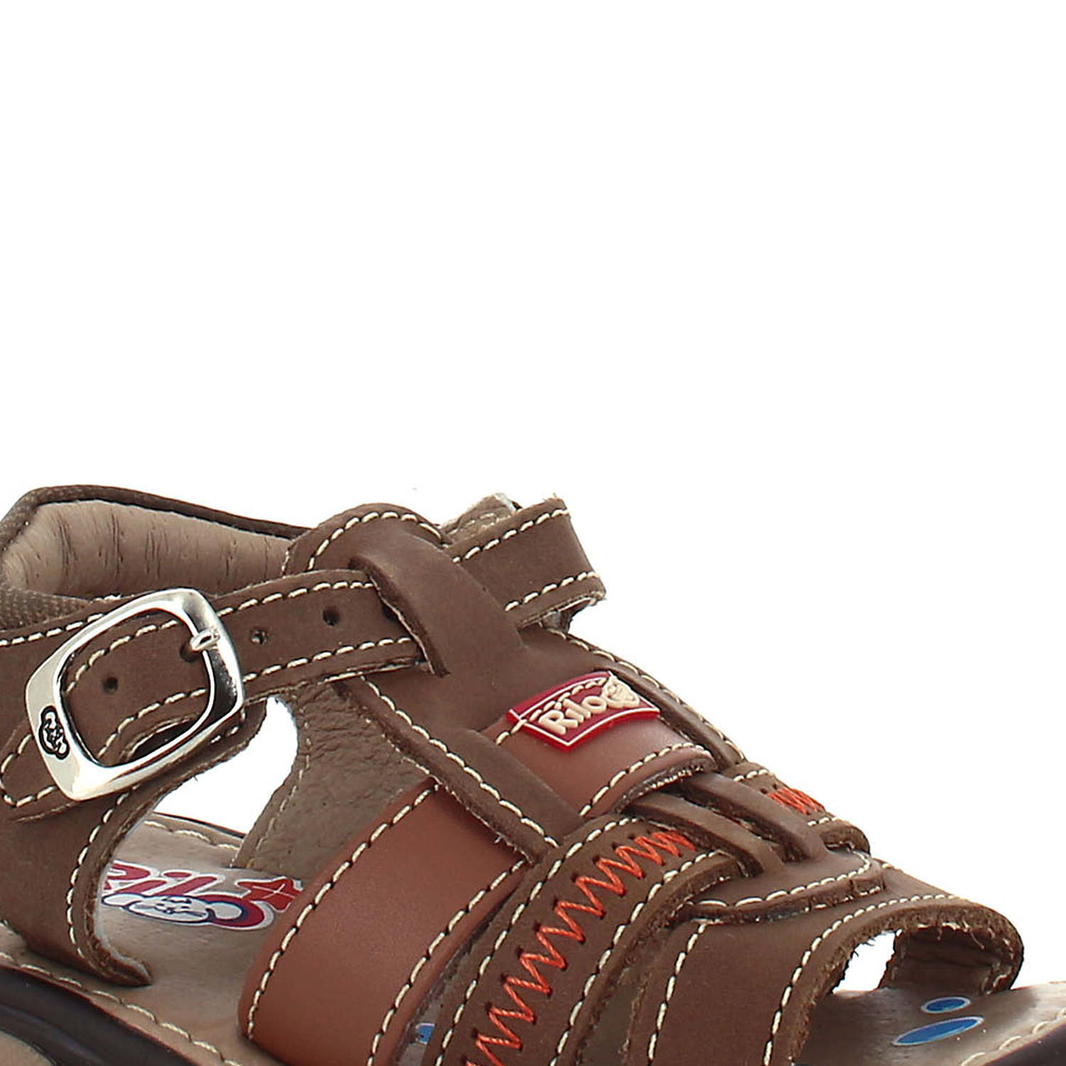 Boy's Rilo Leather Baby Brown open toe Sandal