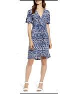 TOMMY BAHAMA Desi Dots Elbow Sleeve Dress Navy Blue Size S Small  - $145 - £38.31 GBP