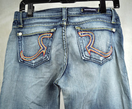 Rock & Republic Roth Addict Wash Rainbow Blue Jeans 26 USA Womens - $34.55