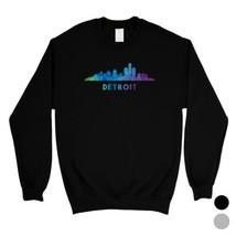 365 Printing Polygon Skyline-Detroit Multicolor Downtown Unisex SweaShirt - $20.99+