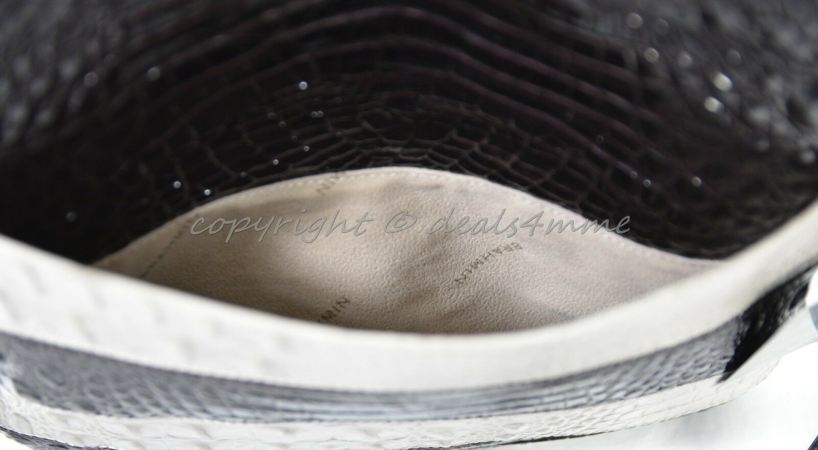 NWT Brahmin Jody Striped Cross-Body/Shoulder Bag in Angora Vineyard image 11