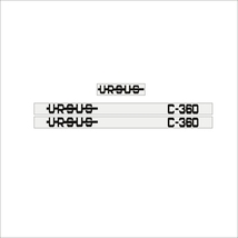 URSUS C-360 - Tractor decal set, reproduction - $36.00