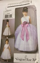 Vogue V7819 Girl Dress Flower Girl Pageant Holiday Formal 5-6-6X U/C Sew... - $18.79