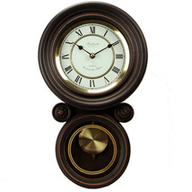 Bedford Clock Collection 16.5 Inch Contemporary Round Wall Clock with Pendulum - $94.32