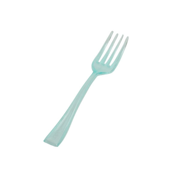 4 Inch Green Tiny Tines Plastic Forks/Case of 960