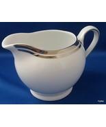 Royal Doulton Pure Platinum Creamer White Porcelain Double Platinum Trim... - $9.90