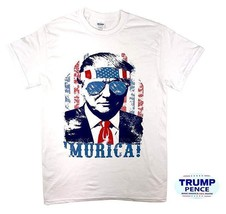Donald Trump 'Murica T Shirt with Free Bumper Sticker Shirt Election Tee... - $12.86+