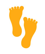 LiteMark 7 Inch Golden Yellow Barefoot Decals for Floors and Walls 12 Pack - $19.95